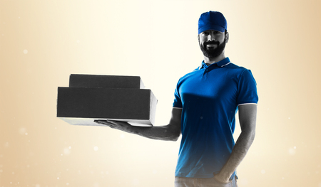 express positivity: Delivery man Stock Photo