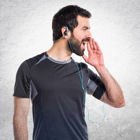 sportman: Sportman shouting