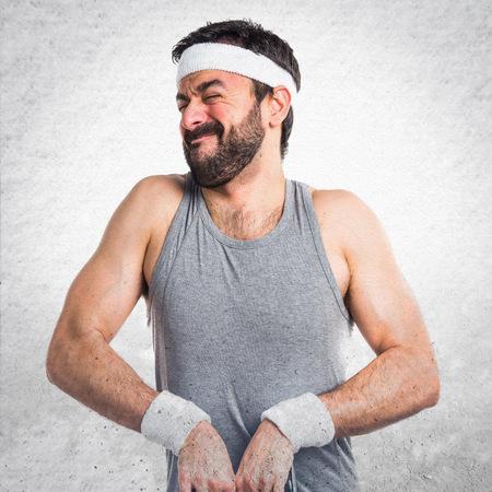 sportman: Tired crazy sportman