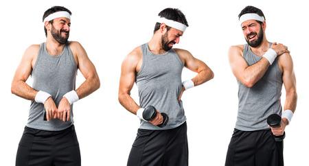 sportman: Sportman with back pain