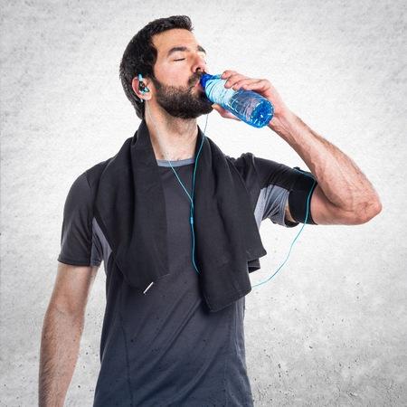 sportman: Sportman with water bottle Stock Photo