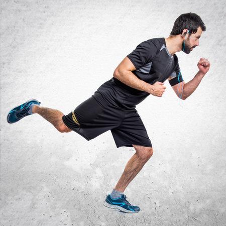 sportman: Sportman running fast