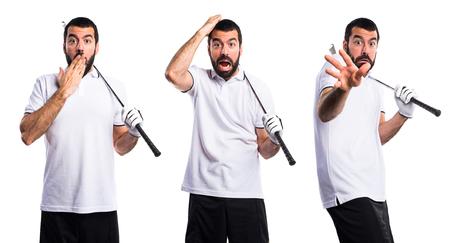 frightened: Frightened Golfer