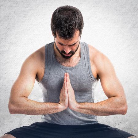 sportman: Sportman in zen position