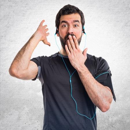 sportman: Sportman doing surprise gesture
