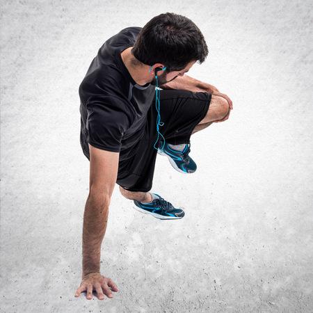 sportman: Sportman doing exercises Stock Photo