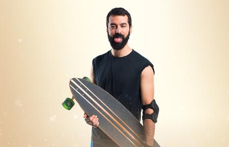 skater: Skater doing a joke Stock Photo