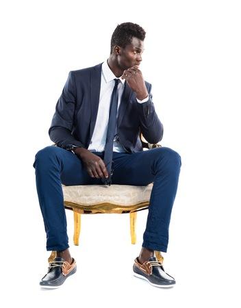 antique background: Handsome business black man