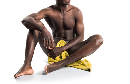 naked african: Naked black man