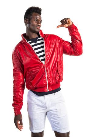 african american man: Man proud of himself