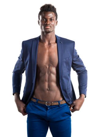 Handsome black man posing