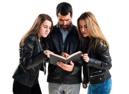 cousin: People reading book