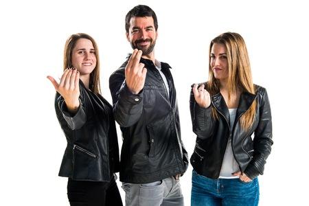 People  making coming gesture Banco de Imagens