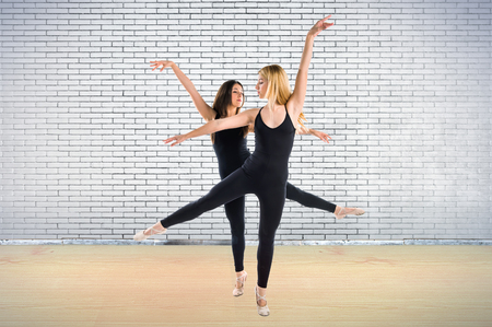 'ballet girl': Two girls dancing ballet