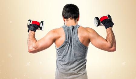 weightlifting: Sportman doing weightlifting
