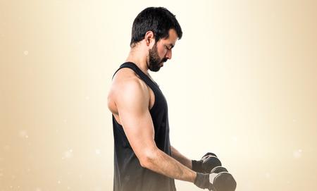 levantamiento de pesas: Sportman pesas haciendo