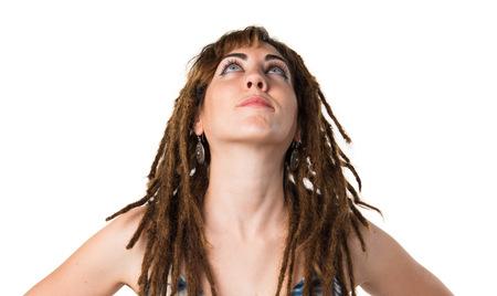 dreadlocks: Girl with dreadlocks looking up