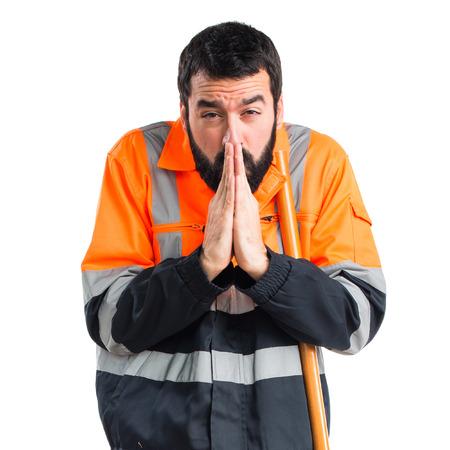 sweeper: Garbage man pleading