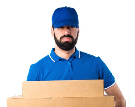 post man: Tired delivery man