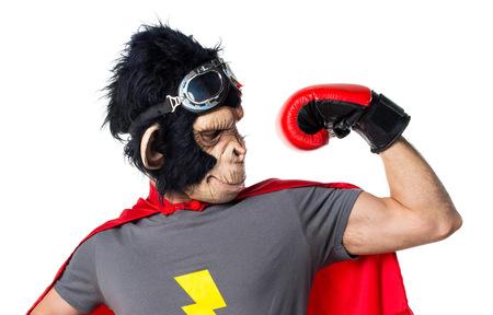 strong: Strong superhero monkey man