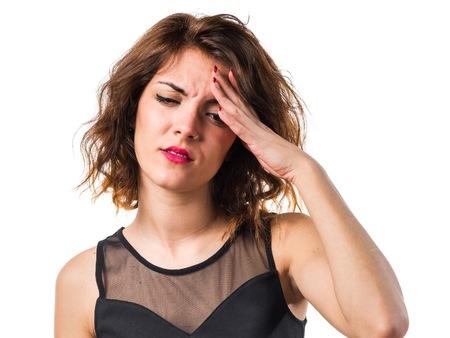 molesto: Chica frustrada Foto de archivo