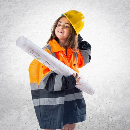 laborer: Little girl dressed like laborer