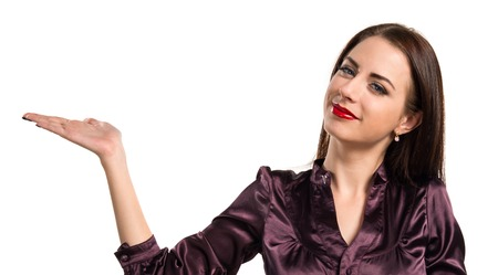 unimportant: Pretty young girl making unimportant gesture Stock Photo