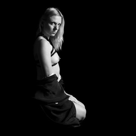 美しい女性の縛り 写真素材