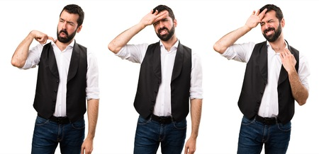 Set of Cool man with fever Stock Photo