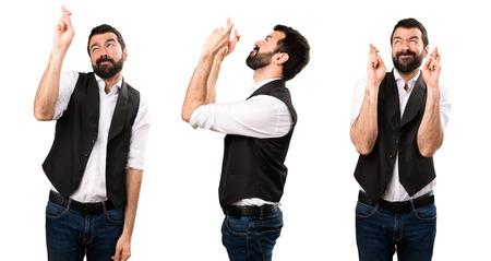 Set of Cool man yawning