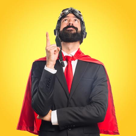 Super hero businessman  Stock Photo