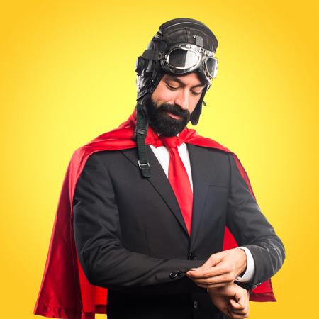 Super hero businessman