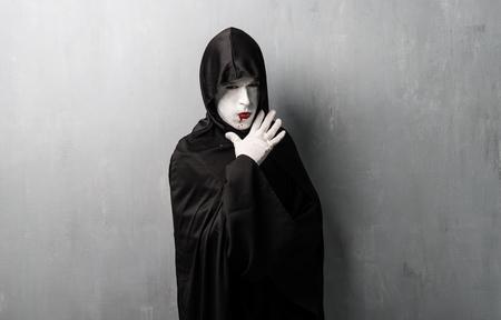 Disfraz de vampiro para halloween Foto de archivo