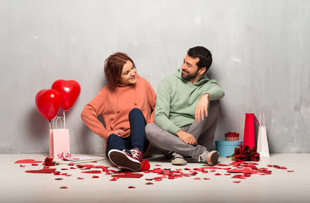 Couple in valentine day happy and smiling