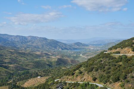 View of Douro river and landscape in the north of Portugal