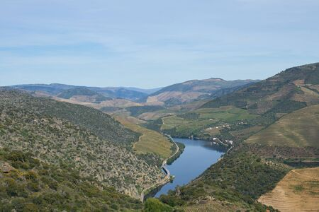 Douro river wine valley region in Portugal