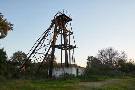 Abandoned ruin mine structure in Mina de Sao Domingos, Portugal