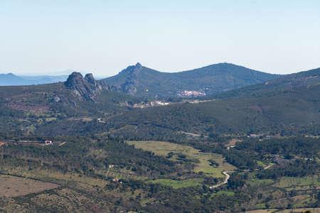 Landscape mountains around Marvao in Alentejo, Portugal Standard-Bild