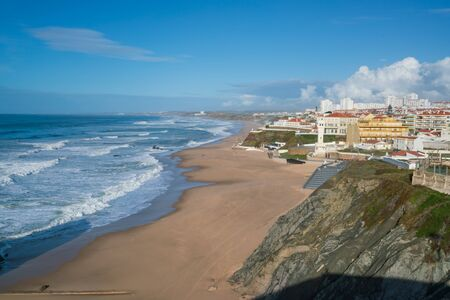 Praia de Santa Cruz beach in Portugal