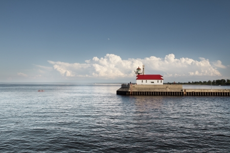marquette: Lake Superior Lighthouse at the Canal Park in Duluth, MN