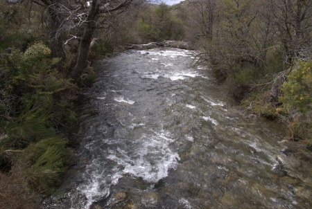 land development: river in Patagonia, Argentina