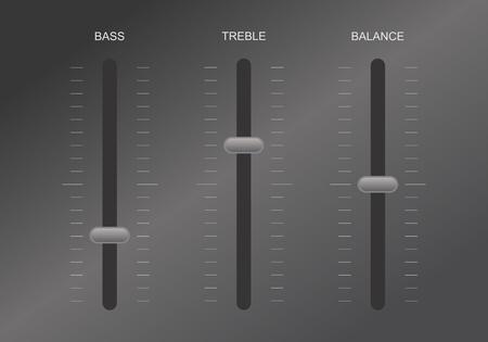 Sound equalizer control Vector illustration. 向量圖像