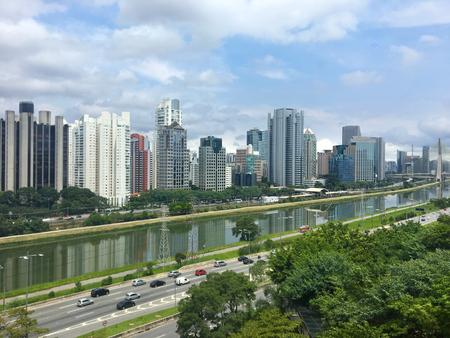 Sao Paulo skyline Brazilië