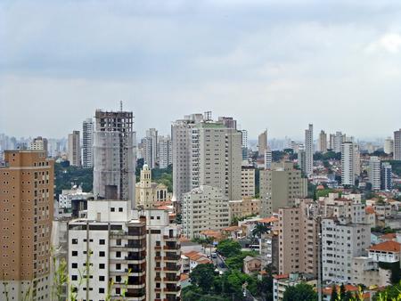 Panoramic view of the Aclimacao neighborhood in Sao Paulo, Brazil
