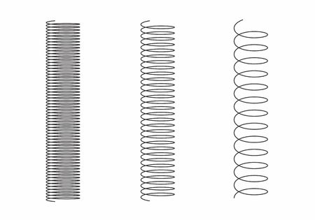 Illustration of different springs on white background