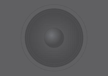 Detailed illustration of speakers in dark tones Illustration