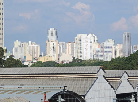 Panoramic view of the Mooca neighborhood in Sao Paulo, Brazil 写真素材