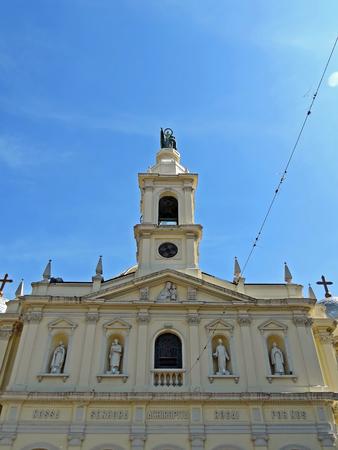 Historic church in the traditional Bixiga neighborhood in Sao Paulo, Brazil Stock Photo