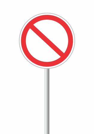 Illustration of an empty forbidden traffic sign Illustration