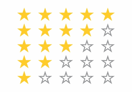 The illustration of a 5-star rating system